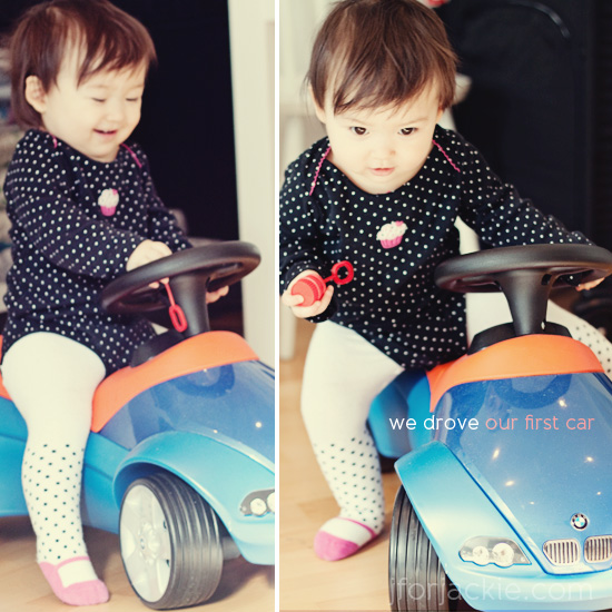 10 April 2013 - Juli Drove her first toy car