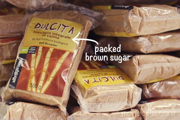 04 June 2013 - packed brown sugar