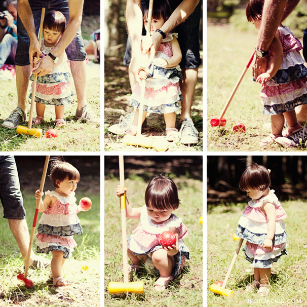 07 July 2013 - Julienne learns how to play Croquet