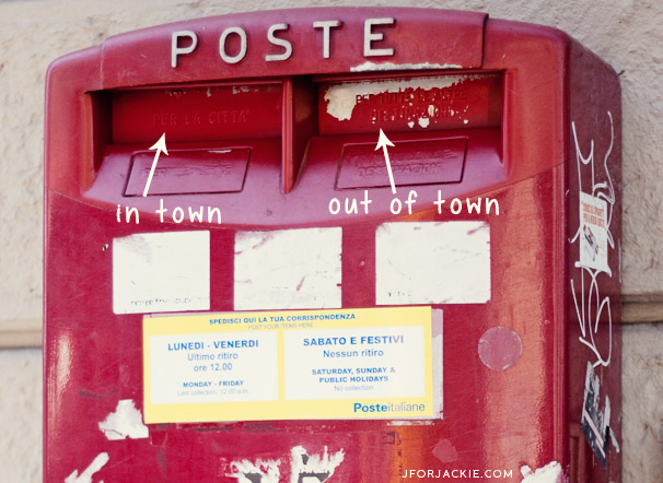 22 July 2013 - How to send mail from Italy