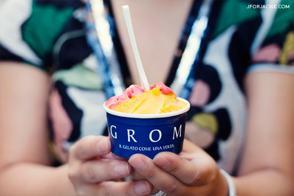 Grom Gelateria in Florence, Italy