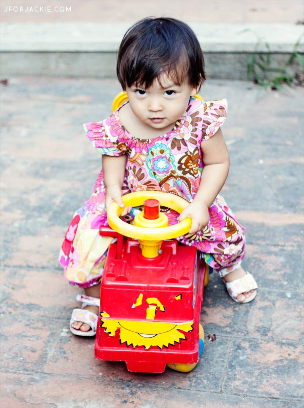 Julienne and her new toy truck