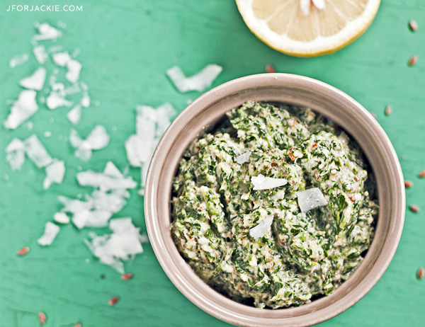 Spinach Pesto with Flaxseed & Walnuts