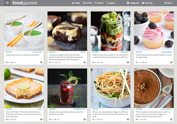 TOP 5 RECIPE WEBSITES